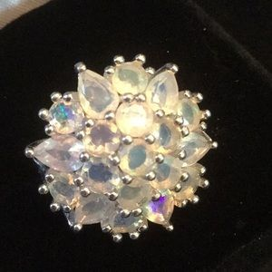 Exquisite Genuine Opal Princess Style Ring